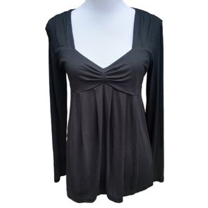 Daisy Fuentes| Blouse Black Long Sleeves Babydoll